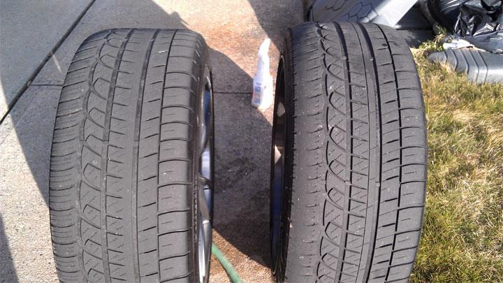 desgaste desigual de los neumáticos